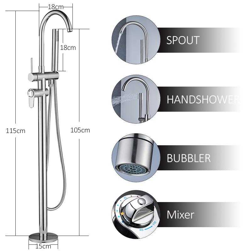 quyanre wanfan frap thermostatic bathtub shower chrome floor standing faucet dual handles thermostatic mixer tap bathroom shower faucets1
