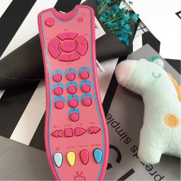 Baby Early Educational Toys Simulation Music TV Remote Control for Kids with Voice Learning Toys for Children