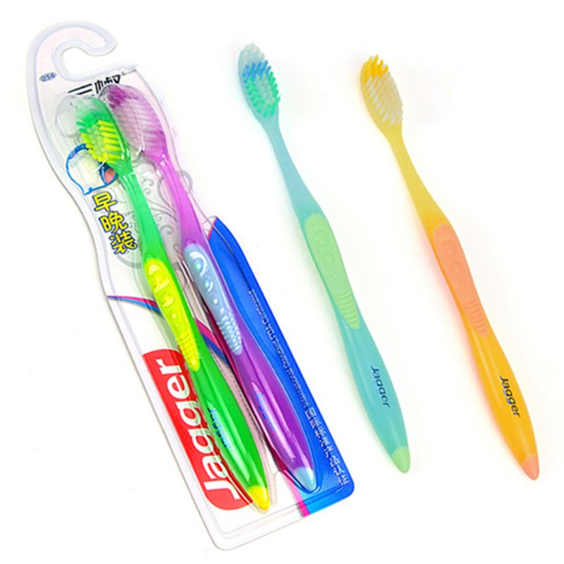 Cheap Hot Sale 2PCS <font><b>Double</b></font> <font><b>Ultra</b></font> Soft Toothbrush Brush Teeth Cleaning Oral Hygiene Dental Care Free Ship image