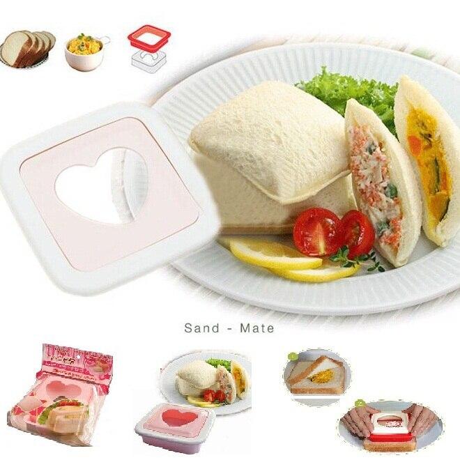 무료 배송 빵 토스트 심장 금형 도시락 아침 식사 메이커 샌드위치 커터 장식 도구 ss866