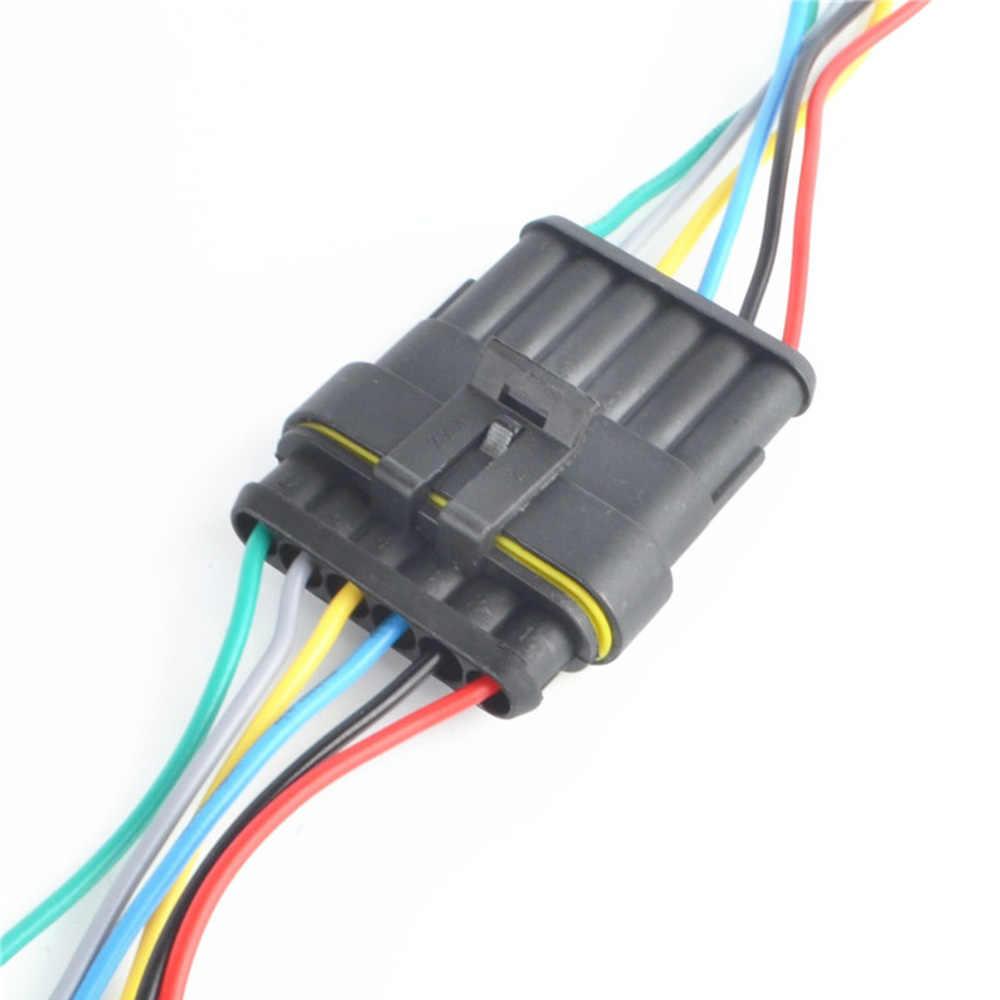 1 zestaw 1/2/3/4/5/6 pinów Way Sealed wodoodporna elektryczny przewód złącze wtyczki zestaw auto złącza z kabel