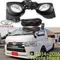 Car-styling, Hiace luz halógena, 2010 ~ 2013/2014 ~ 2016, El barco Gratis! 2 unids/set, Hiace niebla; coche cubiertas, faros Hiace, Hiace