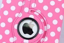 Dot Leather Flip Smart 360 Rotating Cases for apple ipad mini 4