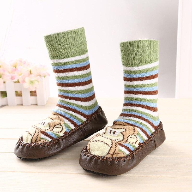 Cat Baby Warm Slip-resistant Faux Leather Floor Walking Socks Kid's Infant Socks Boys Girls Winter Warmer Unisex For Children #4