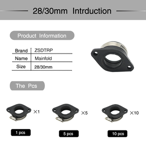 Image 4 - ZS Racing Motorcycle Carburetor Rubber Adapter Inlet Intake Pipe For MIKUNI VM24 OKO KOSO KEIHIN PE28 21/24/26/28/30/32/34mm