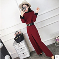 Autumn 2017 new Korean pants waist thin slim temperament loose wide leg pants casual  female