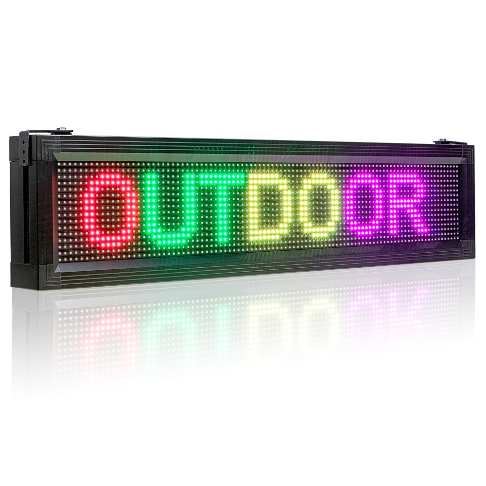 Outdoor 7-Color RGB Full Color LED Display Brand Wifi and USB Programmable Scrolling information P10 3535SMD Waterproof LED sign