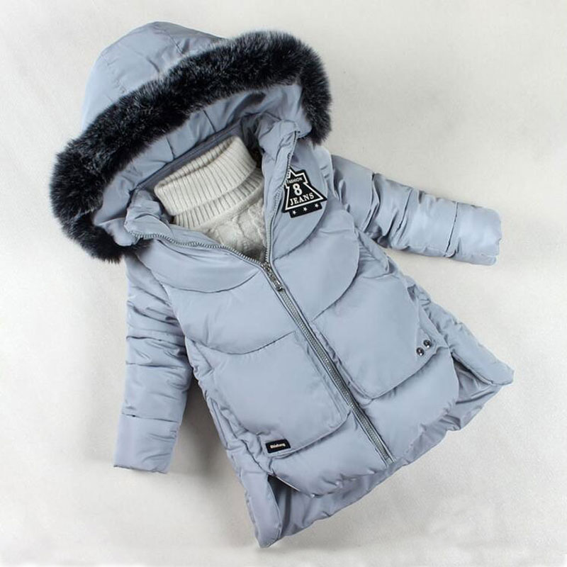 2017 Girls Winter Coat Brand Fashion Down Jackets for Girl Thickening Hooded Cotton Coats Children Girls Outerwear Warm Clothes children winter coats jacket baby boys warm outerwear thickening outdoors kids snow proof coat parkas cotton padded clothes