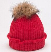 ホット販売赤ちゃんキャップレース綿の毛皮のボール暖かい女の子秋冬子供キッズ帽子キャッ