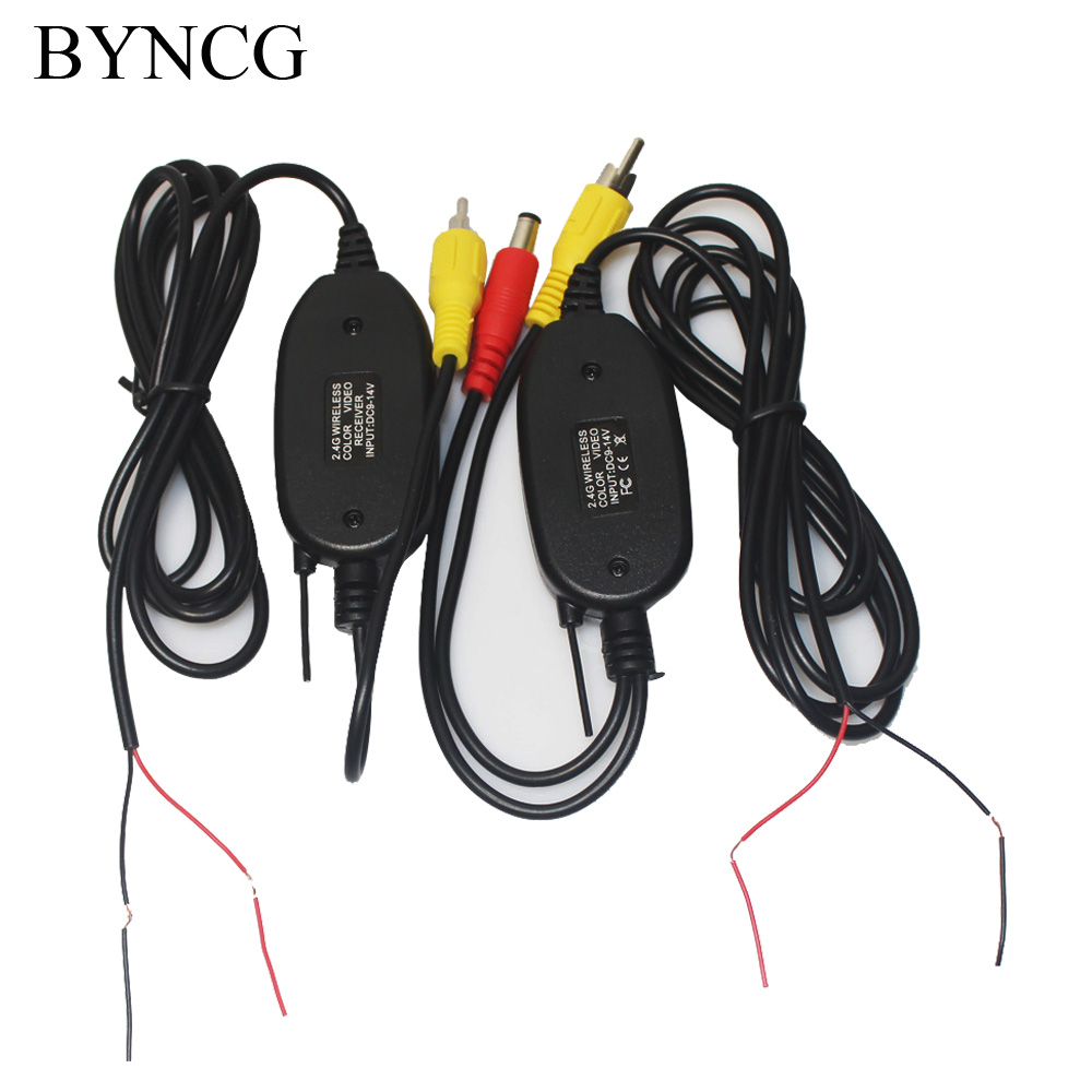 Wireless Parking font b Car b font Backup RCA Video 2 4 Ghz transmitter Receiver kit