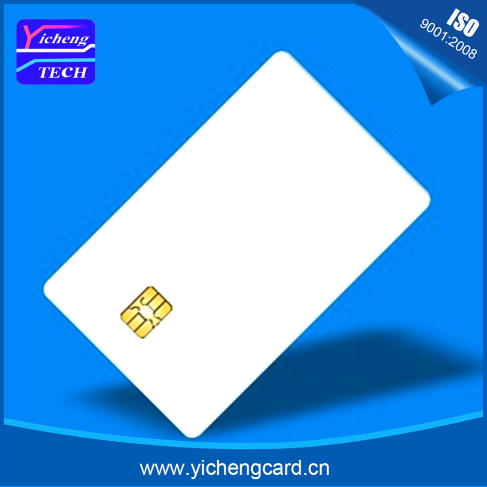 wholesale 100pcs/lot Access Control ISO7816 Blank Printable PVC SLE5528 Smart Contact IC Cards For Card Printer Chip