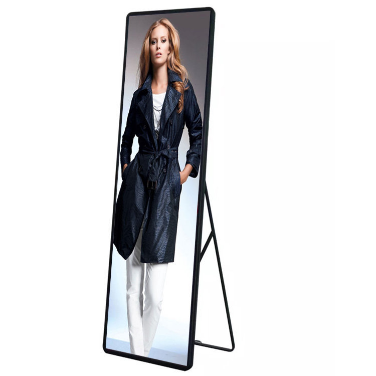 HD Indoor RGB Light Weight P3 Mirror Led Display , Floor Stand Poster Led Screen Led Signage For Advertising