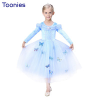 2016 Christmas Gift Fairy Princess Dress Girl Ball Gown Halloween Cosplay Costume Long Sleeved Kids Party