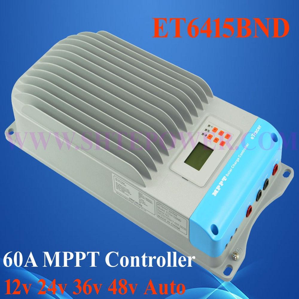 Useful helper Auto work charge 60a solar controller ,ET6415BND mppt charge solar controller