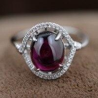 Фиолетовый зубы черный, серебристый цвет кольцо стерлингового серебра микроскоп Встроенный Технология уровень женский гранат ювелирные и