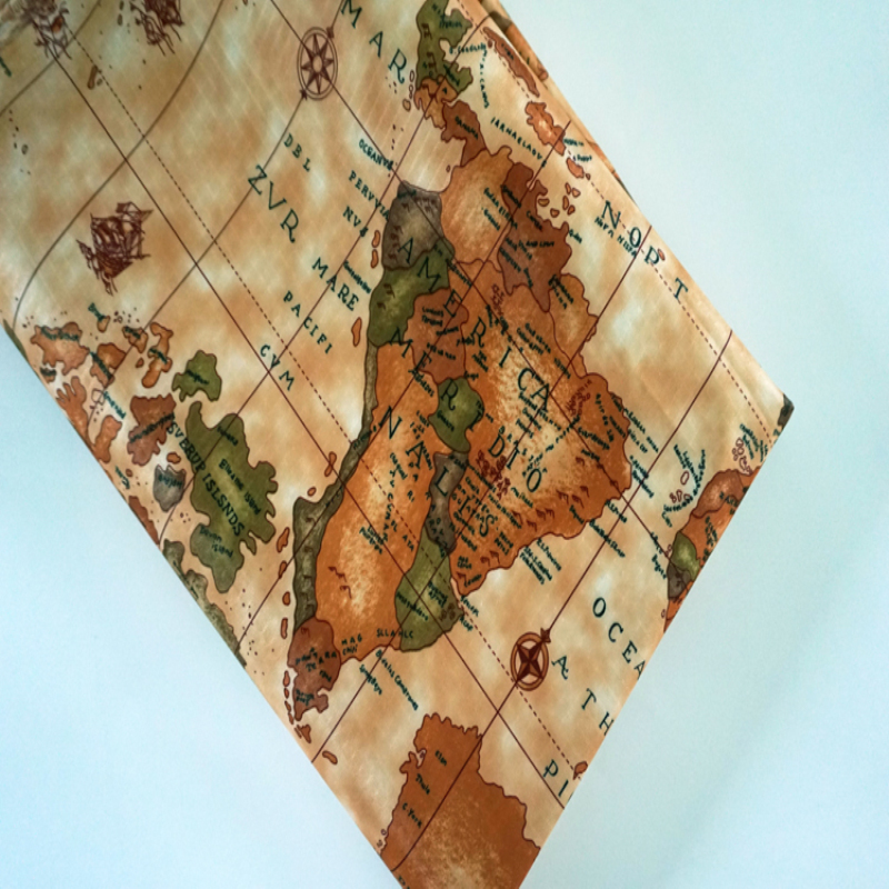 Hot world map chemical fiber fabrics waterproof oxford cloth for hot world map chemical fiber fabrics waterproof oxford cloth for patchwork pvc diy sewing tablecloth bag raincoats by the yard in fabric from home garden gumiabroncs Choice Image