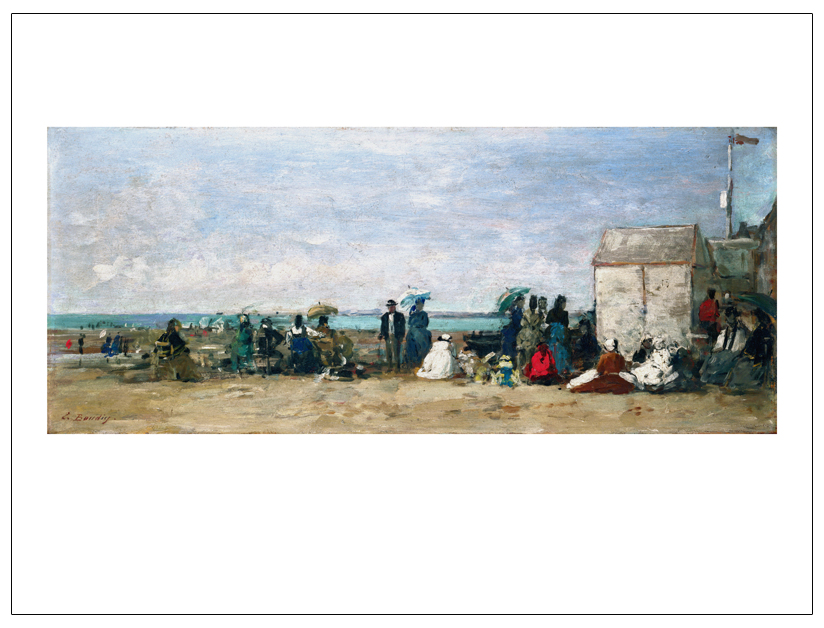 Wall Art Canvas Painting Seascape Posters Giant Pictures Mural Prints  Impressionism Art Trouville Beach Scene By