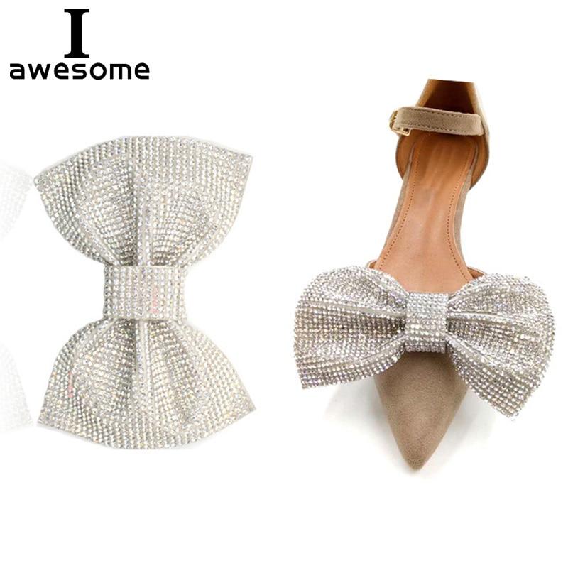 1pcs Bow Rhinestone Bridal Wedding Party Shoes Accessories High Heels Sandals DIY Manual Shining Shoe Decorations Shoe's Flower