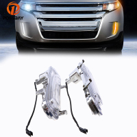 Car LED DRL Fit For Ford Edge First Generation 2011 2014 Facelift White Yellow Turn Signal