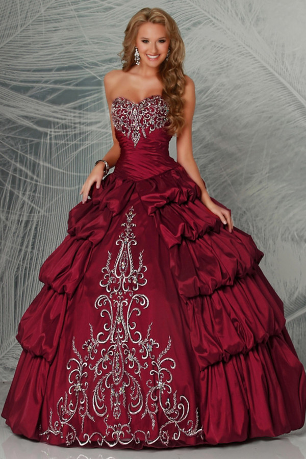 Popular Wine Red Quinceanera Dresses-Buy Cheap Wine Red ...