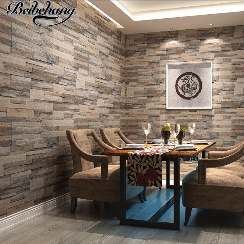 Beibehang 3d Tapete Holz Ziegel Muster Wandverkleidung Pvc Stein