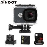 Снимать 45 м водостойкий Экшн-камера 4 K 14MP 1080 P/60FPS Ultra HD WiFi Спорт Cam с 170 широкоугольный объектив набор аксессуаров для Go Pro