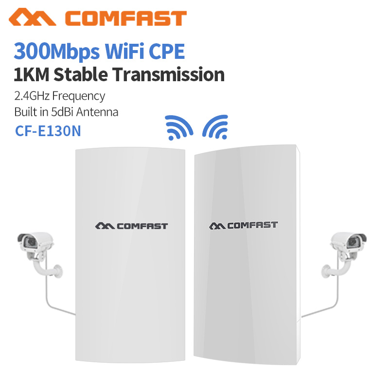 COMFAST CF-E130N 1KM 300Mbps 2.4Ghz Outdoor Mini Wireless AP Bridge WIFI CPE Access Point 5dBi WI-FI Antenna Nanostation CPE(China)