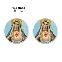 Ювелирные серьги yanhong 25 мм Бог благословляет людей счастливыми