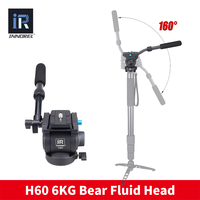 H60 Professional video tripod head Panoramic Hydraulic Fluid monopod head Manfrotto 501PL plates compatible Better than JY0506H
