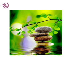 ANGEL'S HAND zen gardens nature photos 5D DIY Diamond Painting Mosaic Crystal Round Rhinestone Embroidery Cross Stitch Beauty Ho(China)