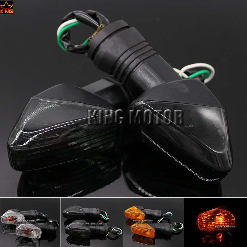 For KAWASAKI Z1000 Z750 ZX-6R ZX-10RR KLE 650 VERSYS Motorcycle Front / Rear Turn Signal Indicator Light Blinker Smoke масляный фильтр для мотоциклов 1 kawasaki zx750 zx 750 750 1987 1990