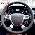 ABS Chrome Trim Steering Wheel Paillette Refires Sticker For Ford Kuga Escape For Ford Focus 3 2013 2014 2015 accessories