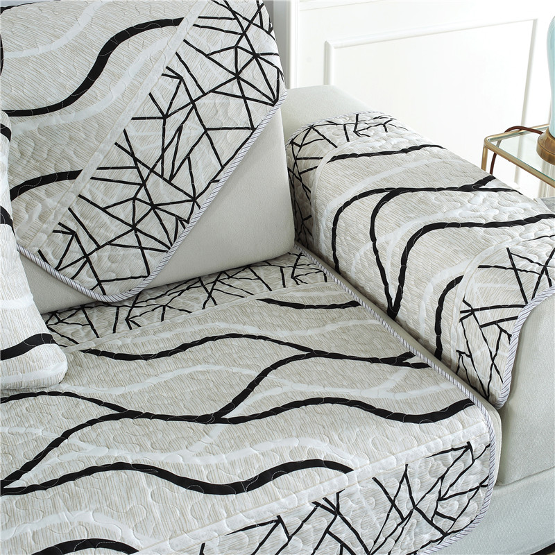 Slowdream Positive and Negative Sofa Cover Nordic 3 9pcs Set Jacquard Fabric Luxury Decor Living Room Home Textiles Double Three in Sofa Cover from Home Garden