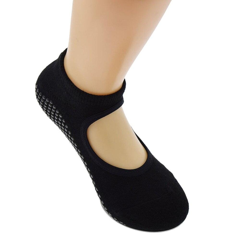 1 Pair Unsex Fit Yoga Socks Anti Skid Breathable Fitness Pilates Socks Dancing Gym Non Slip Cotton Sock Heel Stockings for girl