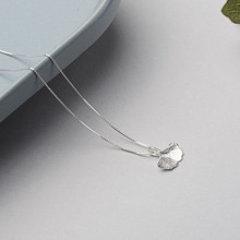 Amaiyllis Fashion Simple s925 Sterling Silver Apricot Leaf Necklaces Pendants Chain Clavicle For Wholesale