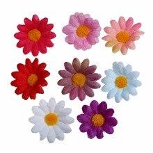 100pcs/lot 2 Artificial Silk Sunflower Flower Head For Wedding Car Decoration DIY Accessory Kidocheese