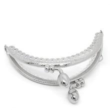 5Pcs Silver Tone Semicircle Metal Arch Frame Kiss Clasps Lock For Purse Bag Handbag Making 8.5x7cm недорого