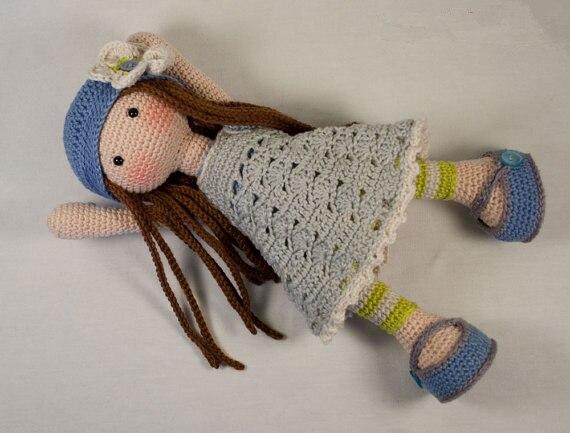 Belle fille-Amigurumi poupée hochet jouet