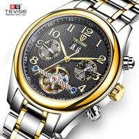 แบรนด์หรูด้านบนผู้ชายอัตโนมัตินาฬิกาT Ourbillonวิศวกรรมผู้ชายนาฬิกานาฬิกาข้อมือตัวเองลมสแตน