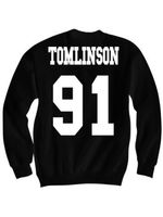 Louis tomlinson #91 jersey sweater heren, Een richting shirt, 1D stuff, Een richting