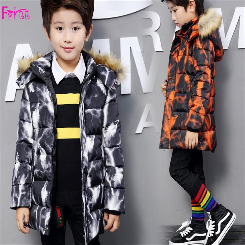 Kids Children's Clothing Outerwear Down Parkas children coat winter jackets for boys camouflage jackets for boys  children park