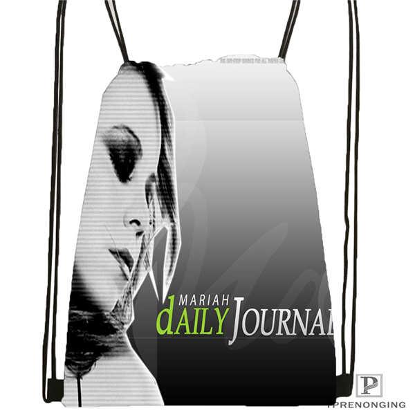 Пользовательские Брюс-Спрингстин-@ 03-Drawstring сумка-рюкзак милый рюкзак дети сумка(черный назад) 31x40 см#180611-03-118 - Цвет: Drawstring Backpack