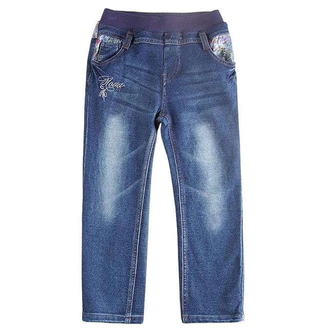 Crianças jeans novos projetos de 100-140 cm nova roupa do bebê calças de brim meninas hot moda meninas calças de brim calças de inverno crianças desgaste
