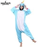 Unicorn Onesie High Quality Animal Pajama Adult Men Women Blue Pink Purple Rainbow Cartoon Cute Party