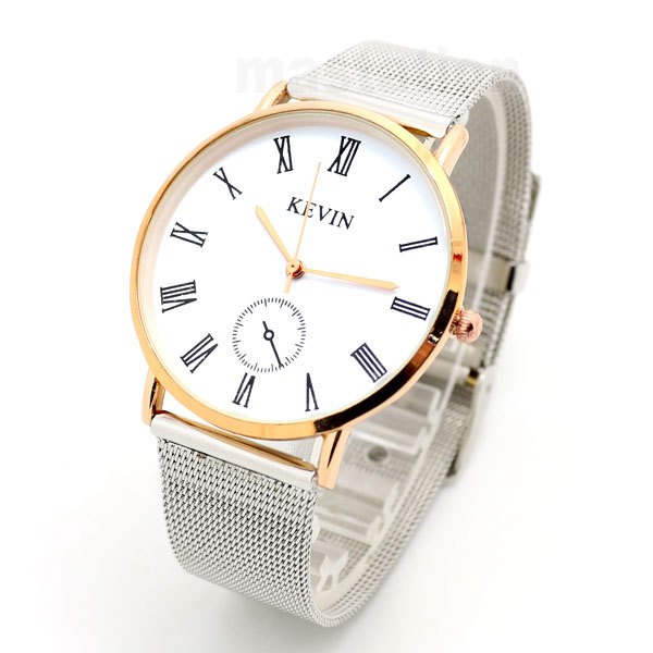 Kevin Fashion Style Beautiful Pattern Stainless Sttel Case Mesh Band Strap Pin Buckle  Quartz Wrist Watch Women Men Girl Boy sony starvis built in heater poe cable kit ip camera 1080p full hd 2mp starlight cctv camera outdoor dome ganvis gv ts255vh pk