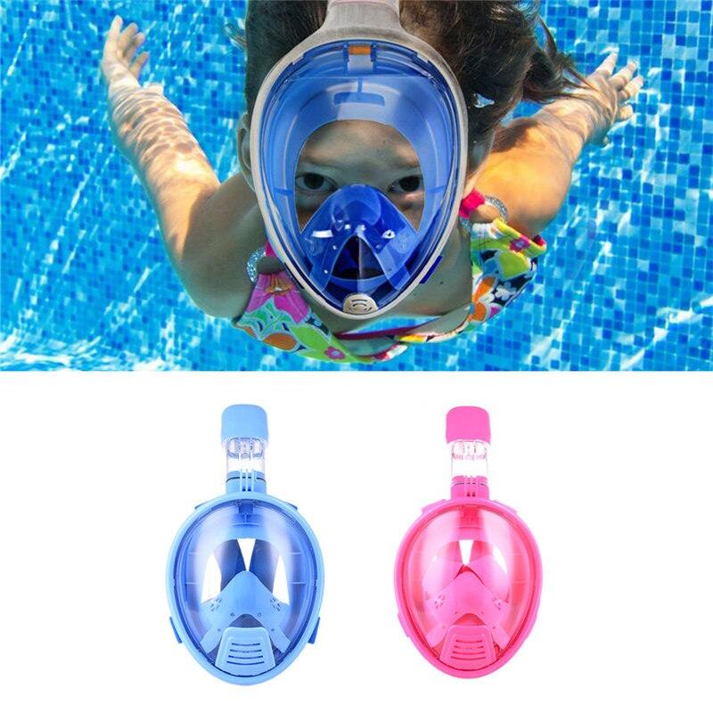 Enfants en toute sécurité masque de plongée en apnée plongée sous-marine plongée sous-marine plongée avec tuba Anti-buée plein visage enfants masque de plongée