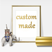 Custom made Gold Foil colorful Art Print Modern Wall Poster foil for home decoration DIY gift