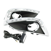 LED Daytime Running Lights For Hyundai IX35 2010 2013 DRL Fog Lamp Cover With Turn
