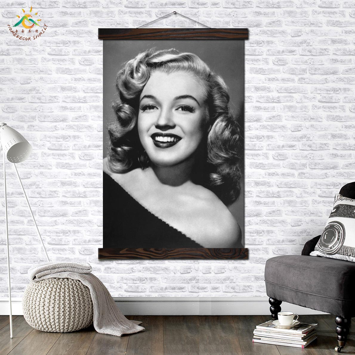 Actress Beautiful Black and White Poster Wall Art Print Pop Posters Prints Scroll Canvas Painting Pictures for Livi