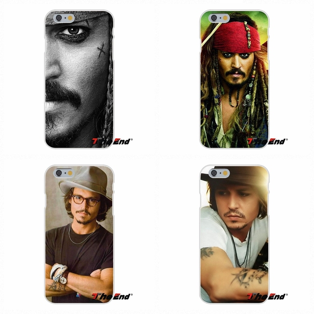 For iPhone X 4 4S 5 5S 5C SE 6 6S 7 8 Plus Galaxy Grand Core Prime Alpha Loving Johnny Depp Jack Sparrow Silicon Soft Phone Case